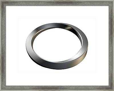 Infinity Ring Framed Print by Allan Swart