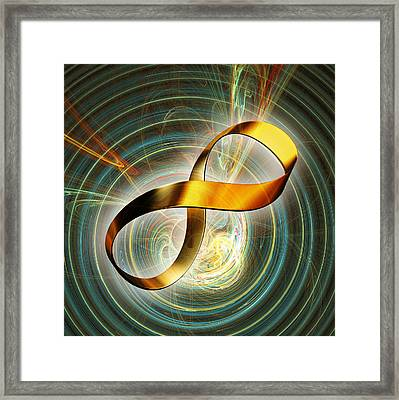 Infinity Symbol And Black Hole Framed Print by Pasieka