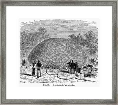 Inflation Of A Balloon Framed Print by Granger