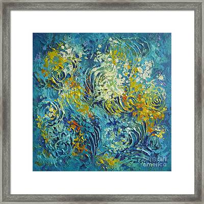 Framed Print featuring the painting Inflorescence 2 by Elena Oleniuc