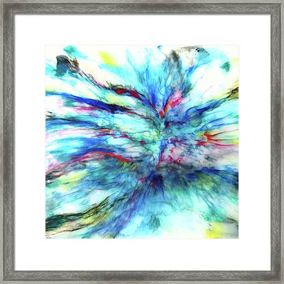 Framed Print featuring the mixed media Influx by Tom Druin