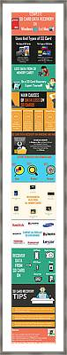 Infographic Guide On Sd Card Data Recovery Framed Print