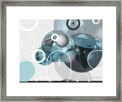 Information Molecule - Abstract Framed Print by Bill ONeil