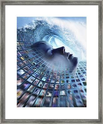 Information Overload, Conceptual Image Framed Print by Smetek