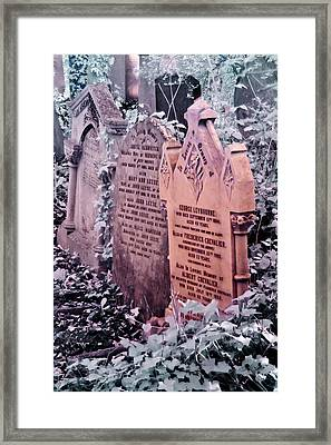 Framed Print featuring the photograph Music Hall Stars At Abney Park Cemetery by Helga Novelli