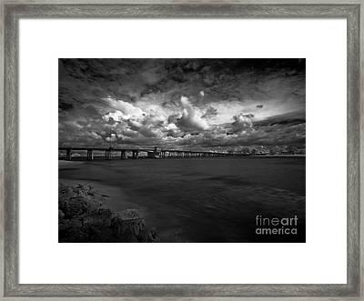 Infrared Longboat Pass Bridge Framed Print