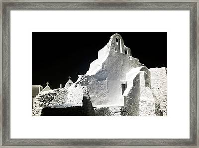 Infrared Paraportiani Framed Print by John Rizzuto