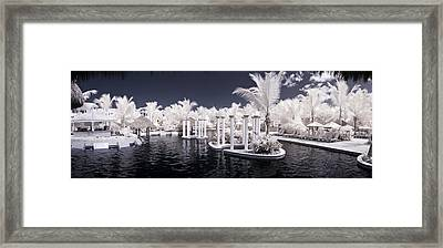 Infrared Pool Framed Print by Adam Romanowicz