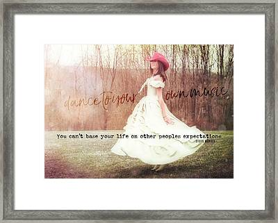 Infrared Quote Framed Print by JAMART Photography