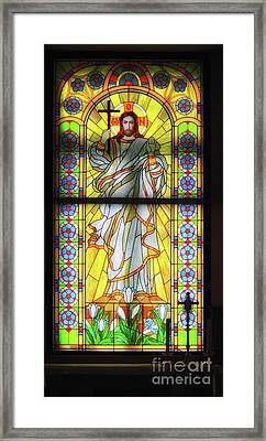 Infront Of The Altar Framed Print by Stephan Grixti
