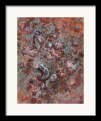 Algae Drawings Framed Prints