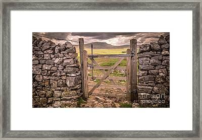 ingleborough Style Framed Print by Peter Stuart