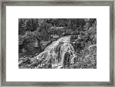 Inglis Falls Bw Framed Print
