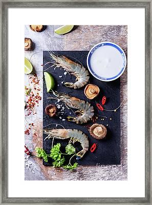 Ingredients For Soup Tom Yam Framed Print