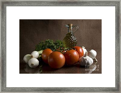 Ingredients Framed Print by Jeannie Burleson