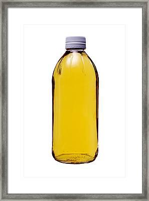 Ingredients Vinegar In Glass Bottle Framed Print