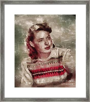 Ingrid Bergman, Actress Framed Print by Mary Bassett