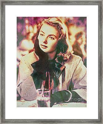 Ingrid Bergman - Movie Legend Framed Print