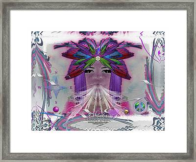 Framed Print featuring the digital art Inhaling Exhaling Peace by Barbara Tristan