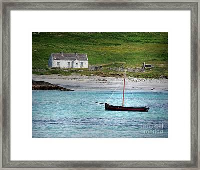 Inishbofin Boat Framed Print
