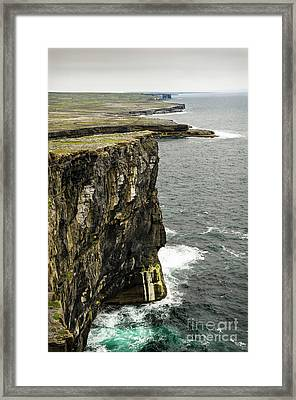 Framed Print featuring the photograph Inishmore Cliffs And Karst Landscape From Dun Aengus by RicardMN Photography