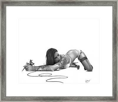 Ink Angel Framed Print