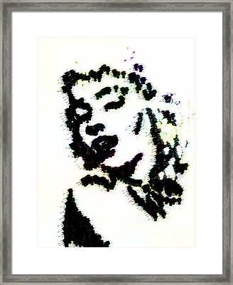 Ink Blot Monroe Framed Print by Arianna Trombley