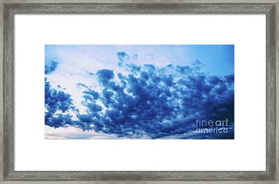 Framed Print featuring the photograph Ink Blot Sky by Colleen Kammerer