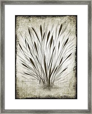 Ink Grass Framed Print
