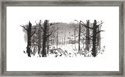 Ink Landscape 1 Framed Print by Sean Seal