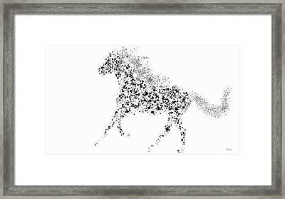 Framed Print featuring the drawing Ink Splattered Stallion by Nick Gustafson
