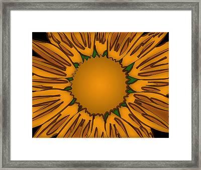 Ink Sunflower Framed Print by Christopher Sprinkle