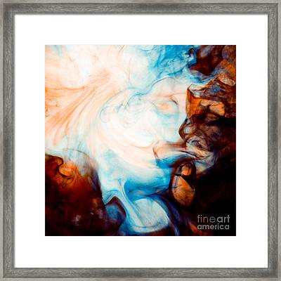 Ink Swirls 001 Framed Print