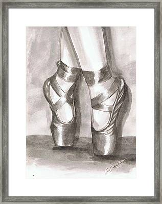 Ink Wash En Pointe Framed Print