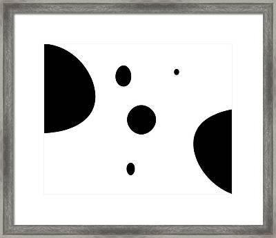 Inkblots Minimalism Framed Print
