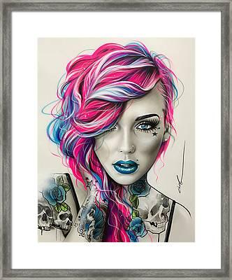 Inked Neon Framed Print