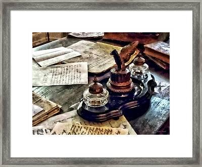 Inkstand Framed Print by Susan Savad