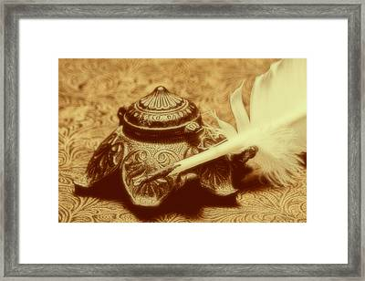 Inkwell I Framed Print by Tom Mc Nemar