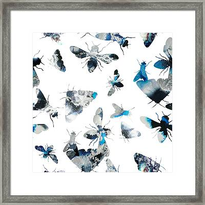 Inky Insects Framed Print by Varpu Kronholm