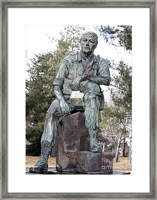 Inland Northwest Veterans Memorial Statue Framed Print by Carol Groenen