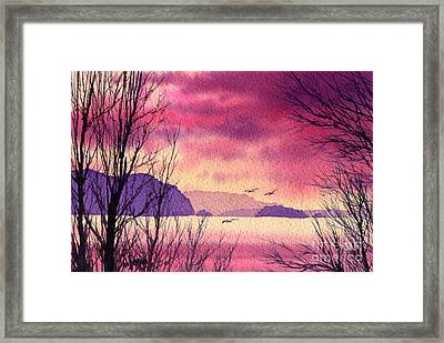 Framed Print featuring the painting Inland Sea Islands by James Williamson