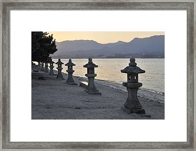 Inland Sea Sunset Framed Print by Andy Smy
