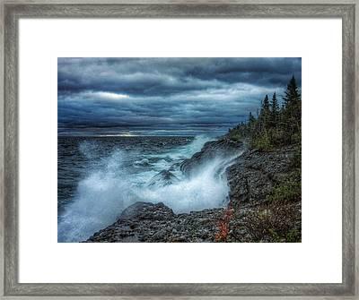 Inland Sea Thunder Framed Print by Scott Wendt Tom Wierciak