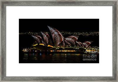 Inlay Sails - Sydney Vivid Festival Framed Print by Bryan Freeman
