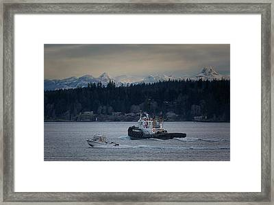 Framed Print featuring the photograph Inlet Crusader by Randy Hall