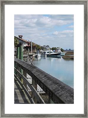 Inlet Fishing Fleet Framed Print