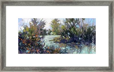 Inlet Haven Framed Print by Rae Andrews