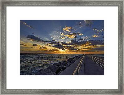 Inlet Sunrise Framed Print