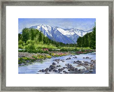 Inlet View From Glacier Creek Framed Print by Sharon Freeman