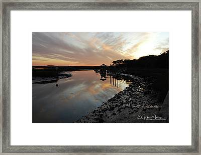 Inlet Sunset Framed Print by Gordon Mooneyhan